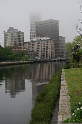 Photograph -  Foggy Morning In Providence by Barry Doherty