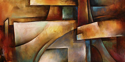 Arch Shapes Painting -  ' Folding Space ' by Michael Lang