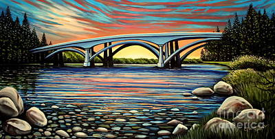 Painting -  Folsom Bridge by Elizabeth Robinette Tyndall