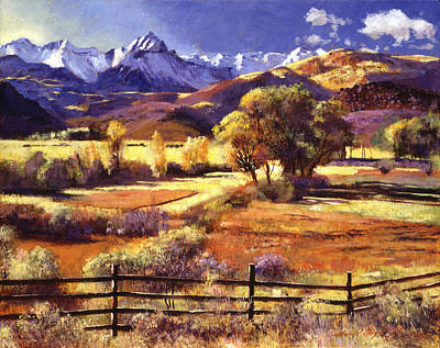 Mountain Snow Landscape Painting -  Foothills Ranch by David Lloyd Glover