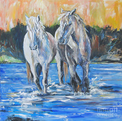 Impressionist Mixed Media -  Fresh Water by Debora Cardaci