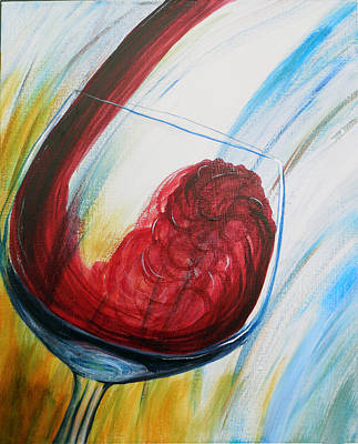 Painting - -full Bodied Fermented Fruity Fun by Su Nimon