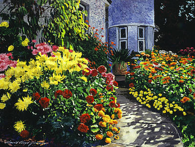 British Columbia Painting -  Garden Shadows by David Lloyd Glover