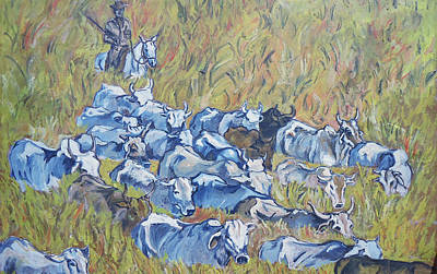 Painting -   Gaucho Roundup by Charme Curtin