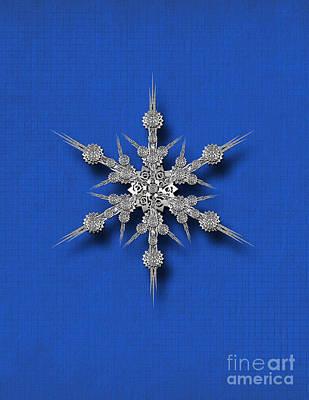 Digital Art -  Gear Snowflake by Afrodita Ellerman