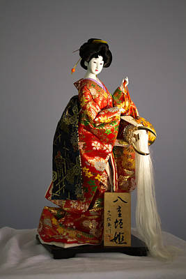 Dolls Photograph -  Geisha Doll 2 by J Darrell Hutto