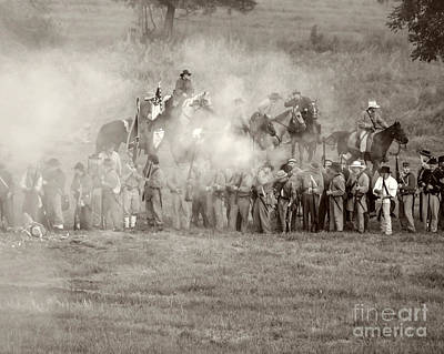 Gettysburg Confederate Infantry 7503s Art Print