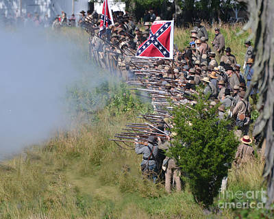 Photograph -  Gettysburg Confederate Infantry 8769c by Cynthia Staley