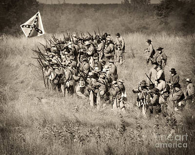 Gettysburg Confederate Infantry 9015s Art Print