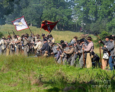 Gettysburg Confederate Infantry 9281c Art Print