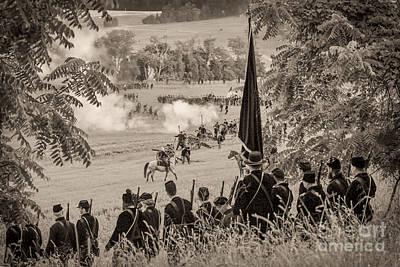 Gettysburg Union Artillery And Infantry 7457s Art Print