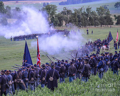 Gettysburg Union Artillery And Infantry 7496c Art Print