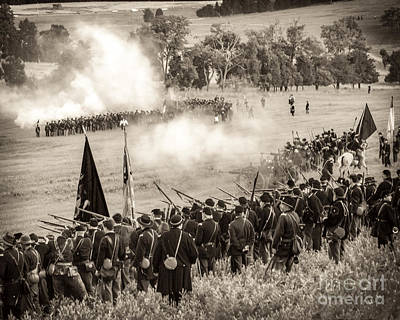 Gettysburg Union Artillery And Infantry 7496s Art Print