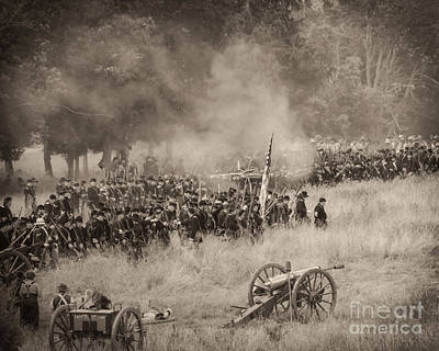 Gettysburg Union Artillery And Infantry 8456s Art Print