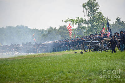 Photograph -  Gettysburg Union Infantry 9968c by Cynthia Staley