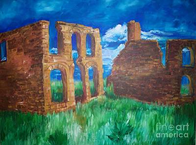 Art Print featuring the painting  Ghost Town  by Eric  Schiabor