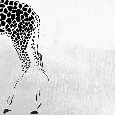 Graphic Painting -  Giraffe Animal Decorative Wall Poster  4 by Diana Van