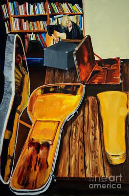 Painting -  Girl Playing Guitar by Jock McGregor
