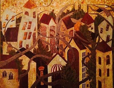 Western Art -  Golden roads  by James Boles