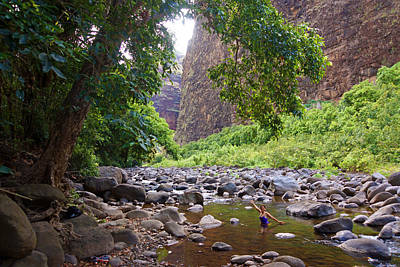 Koaie Stream Swimming Hole Art Print by Kevin Smith