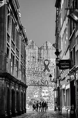 Belguim Wall Art - Photograph -  Grand Place Brussels Rue Des Harengs by Bouquet  Of arts