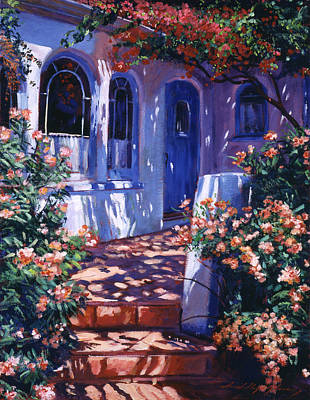Impressionism Paintings -  Greek Poets Cottage by David Lloyd Glover