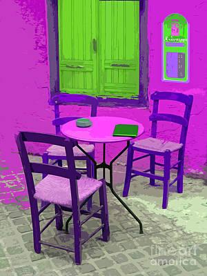 Crete Digital Art -   Greek Taverna       by Tony Craddock
