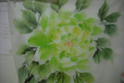 Green Peony004 Art Print by Dongling Sun