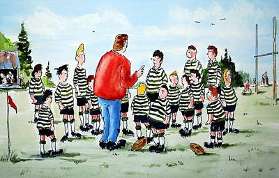 Half Time Art Print by Wilfred McOstrich