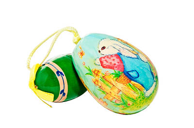 Photograph -  Hand Painted Easter Eggs by Susan Leggett