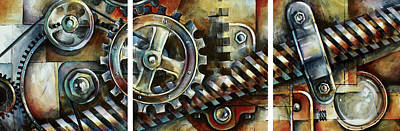 Pulley Painting -  ' Harmony' by Michael Lang