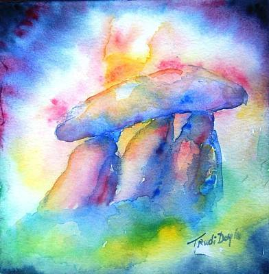 Painting -  Haroldstown Dolmen by Trudi Doyle