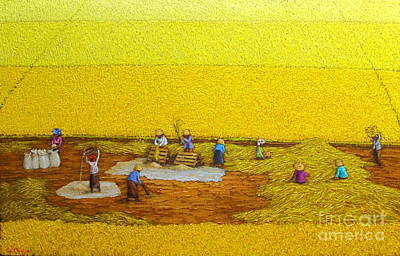 Harvest 17 Art Print by Sri Martha