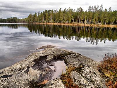 Photograph -  Haukkajarvi Landscape by Jouko Lehto