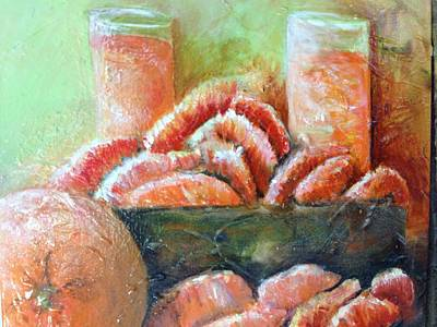Painting -  Mandarin Oranges  by Chuck Gebhardt