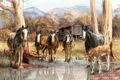 Art Print featuring the digital art  High Country Hideaway by Trudi Simmonds