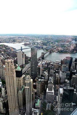 Photograph -  High In Manhattan by Jacqueline M Lewis
