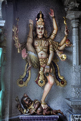 Hindu Goddess Photograph -  Hindu God Kali by Carl Purcell