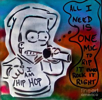 Liberal Painting -  Hip Hop Bart #1 by Tony B Conscious