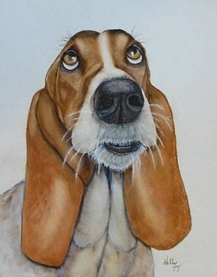 Puppy Painting -  Hound Dog's Pleeease by Kelly Mills