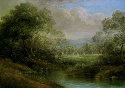 Wall Art - Painting -  Hungarian Landscape by Arthur Braginsky