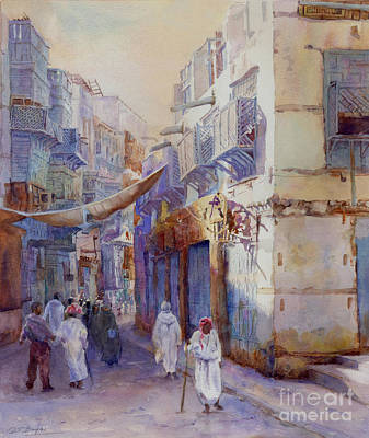 Souq Painting -  Hurrying Home by Dorothy Boyer