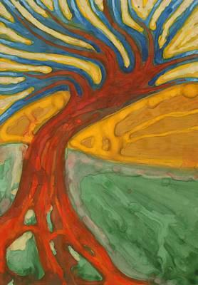 Tree Painting -  I Would Like To Be Me by Wojtek Kowalski