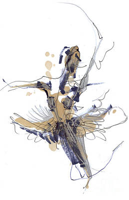 Ballet Drawing -   Imaginary Dance Or Swan Lake by Lousine Hogtanian
