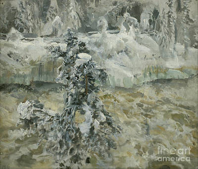 Wintertime Painting -  Imatra In Wintertime by MotionAge Designs