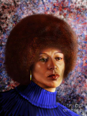 Impassable Me - Angela Davis1 Art Print by Reggie Duffie