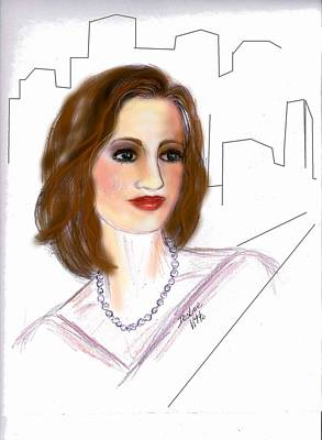 Art Print featuring the drawing  In A New York Minute by Desline Vitto