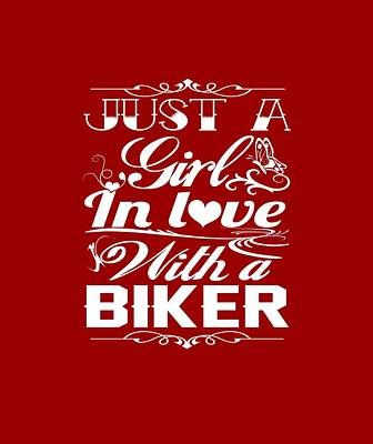 In Love With A Biker Art Print