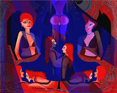In The Harem - 123 Art Print by Irmgard Schoendorf Welch