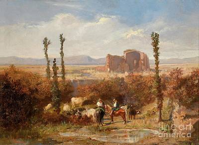 Lviv Painting -  In The Roman Campagna by Celestial Images